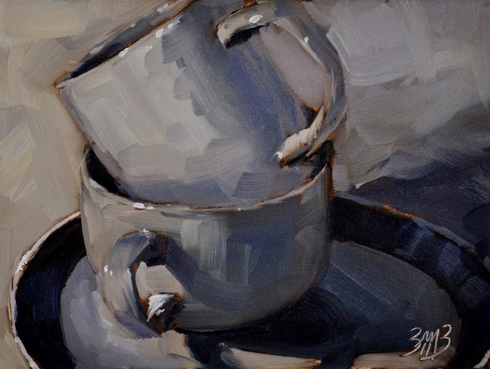 """Stacked Up"" original fine art by Brienne M Brown"