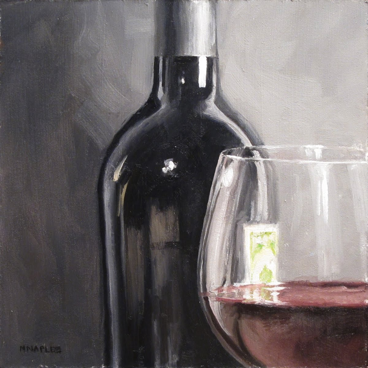 """Wine Close-Up"" original fine art by Michael Naples"