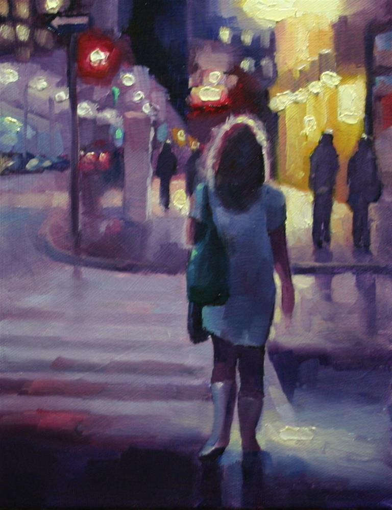 """I Dreamed in Pink and Purple, King Street, Toronto"" original fine art by Catherine Jeffrey"