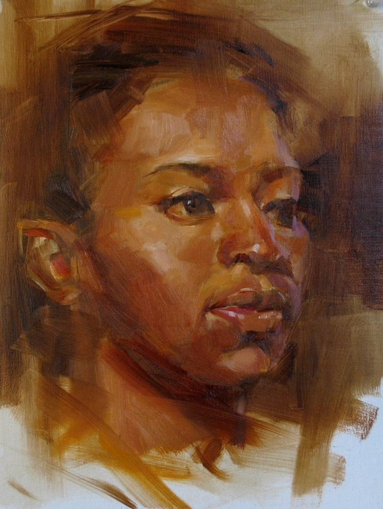 """Head Study 052312"" original fine art by Qiang Huang"
