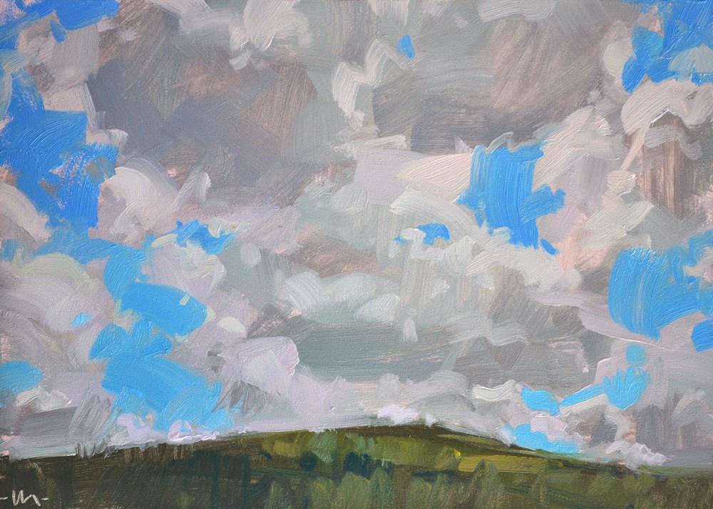 """""""Busy Clouds"""" original fine art by Carol Marine"""