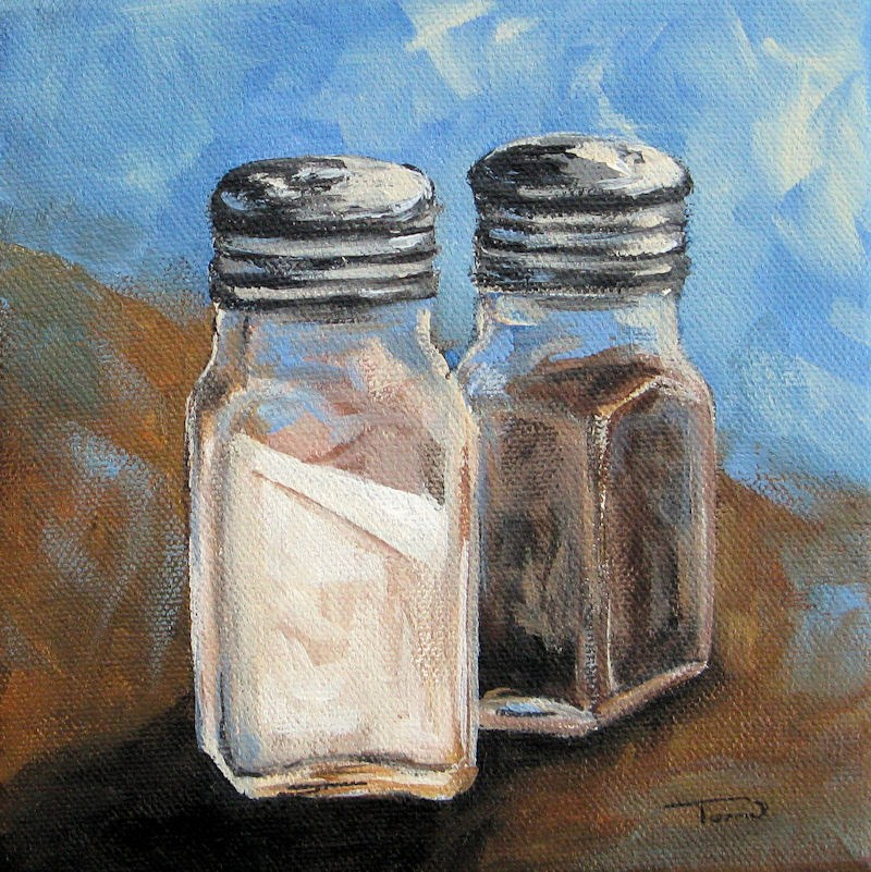 """Salt and Pepper IV"" original fine art by Torrie Smiley"