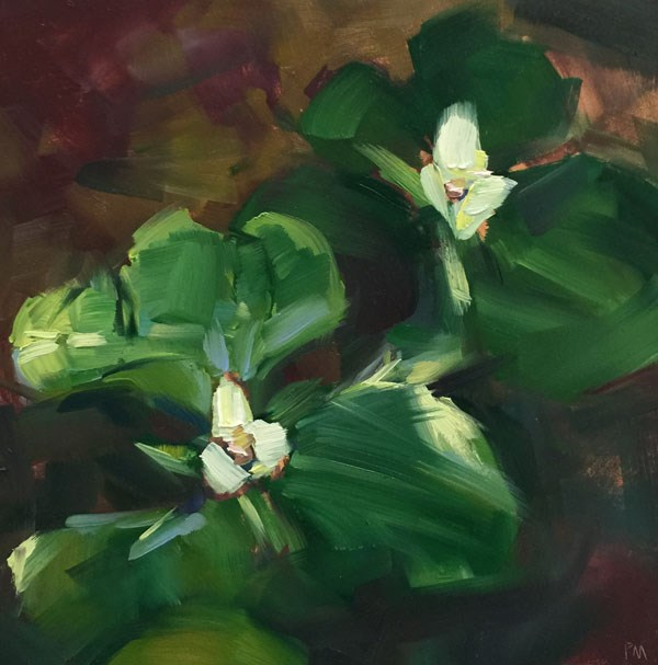 """Trillium Twosome"" original fine art by Patti McNutt"
