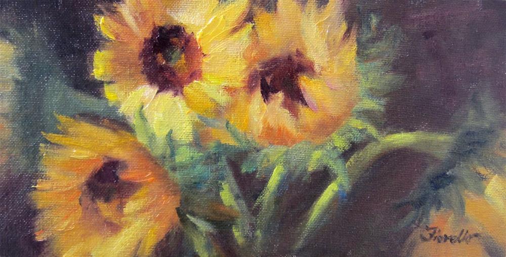 """Sunburst"" original fine art by Pat Fiorello"