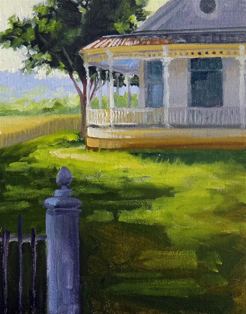 """Kerrville Farmhouse"" original fine art by Nancy Paris Pruden"