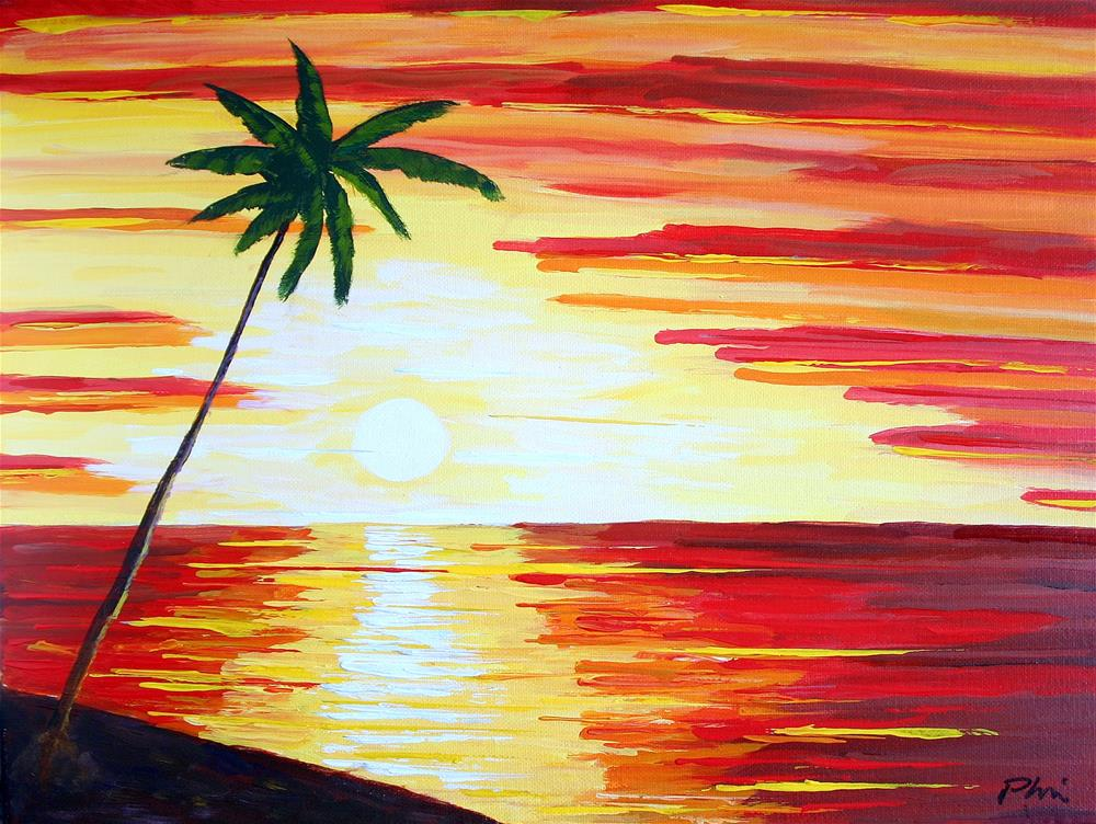 """CALIFORNIA SUNSET"" original fine art by Bob Phillips"