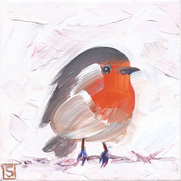 """4186 - Robby Robin"" original fine art by Sea Dean"
