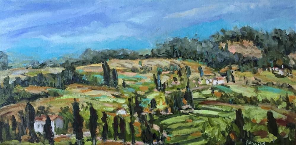 """""""Tuscan View"""" original fine art by Alina Vidulescu"""