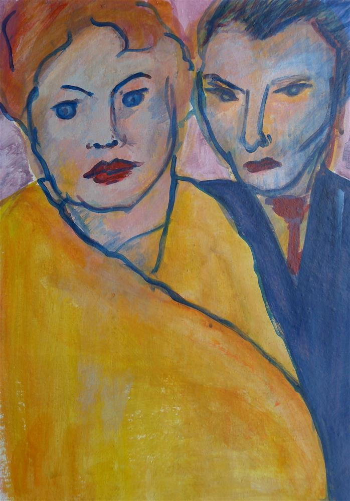 """Couple - after Nolde"" original fine art by Ulrike Schmidt"