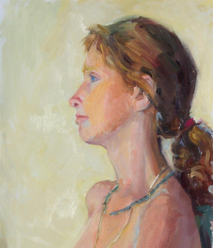 """Mageara,portrait,oil on canvas,16x12,price$700"" original fine art by Joy Olney"