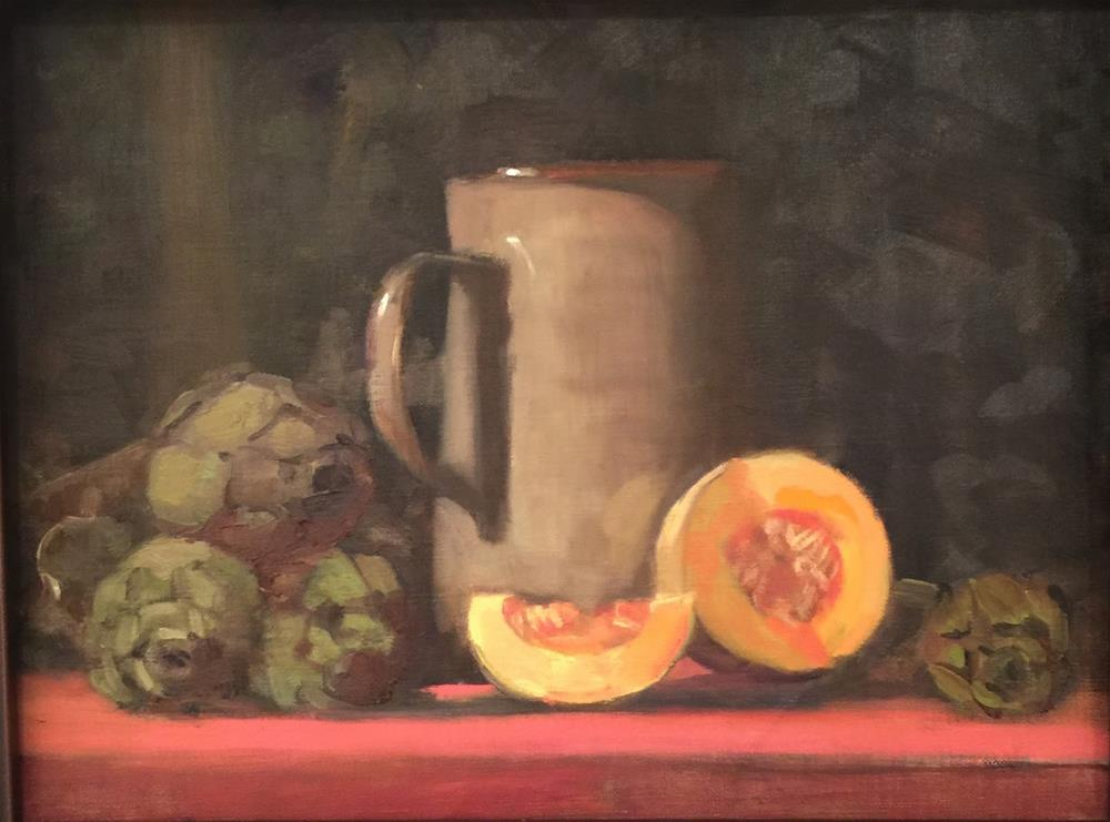 """Produce From Limoux and a Presentation in Saugatuck"" original fine art by Ann Feldman"