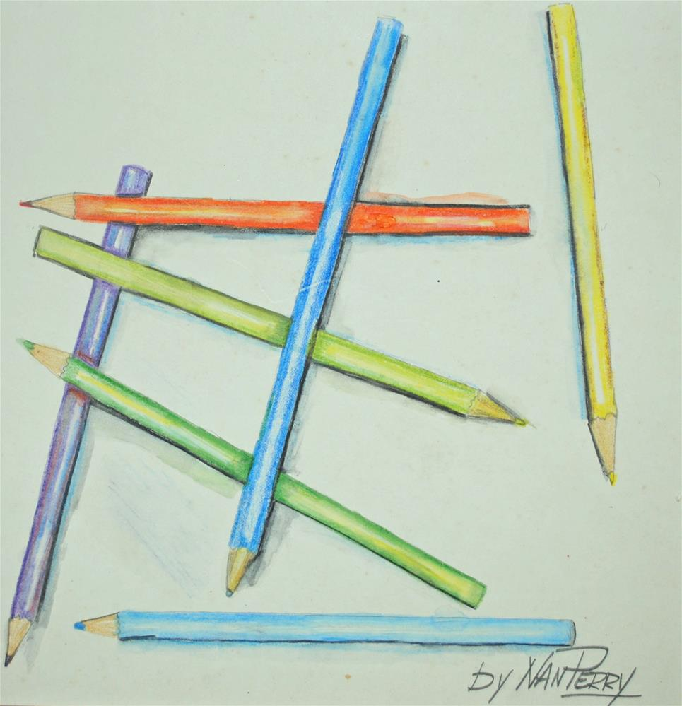 """Pencils"" original fine art by Nan Perry"