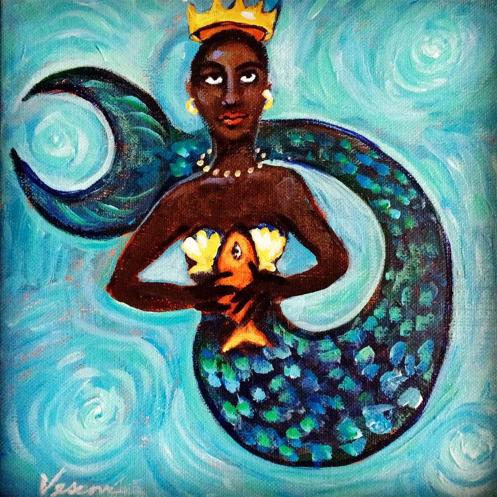 """Mermaid 2"" original fine art by Valerie Vescovi"