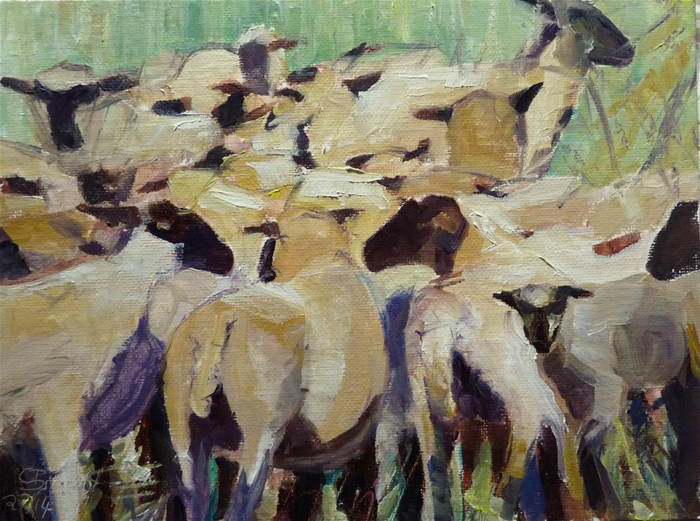 """sheep"" original fine art by Claudia Brandt"