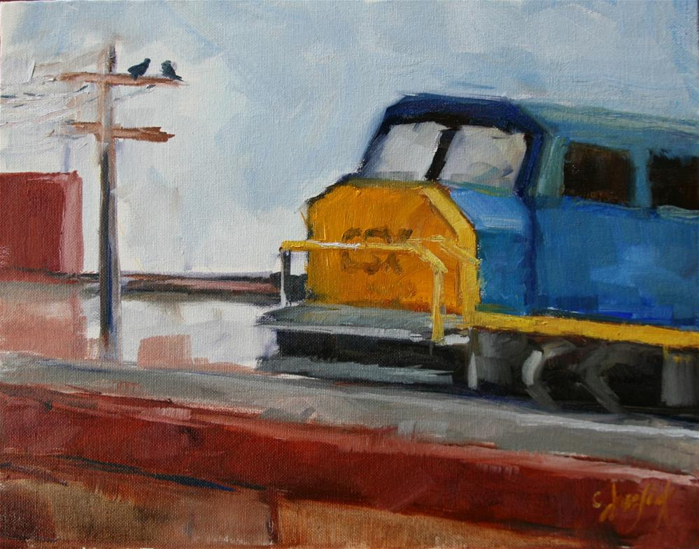 """CSX"" original fine art by Carol Josefiak"