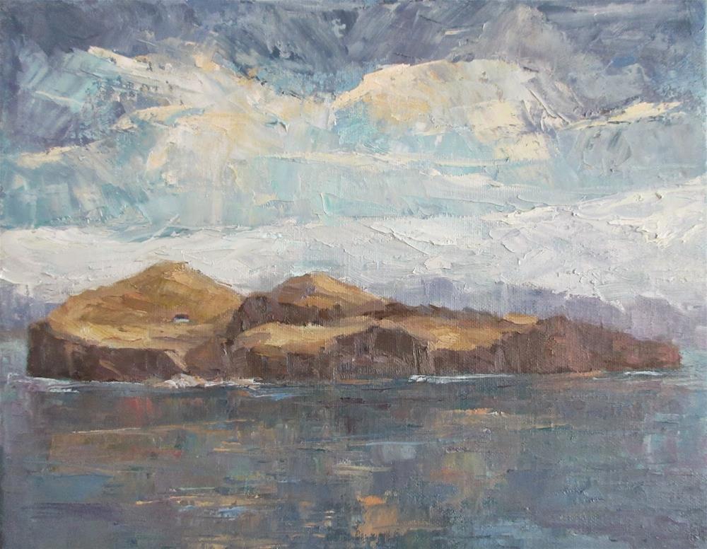 """""""Elliðaey The Island of Ellidi"""" original fine art by Steinunn Einarsdottir"""