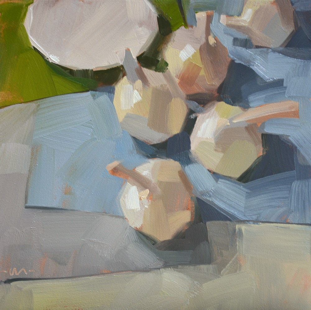 """Garlic Layers"" original fine art by Carol Marine"