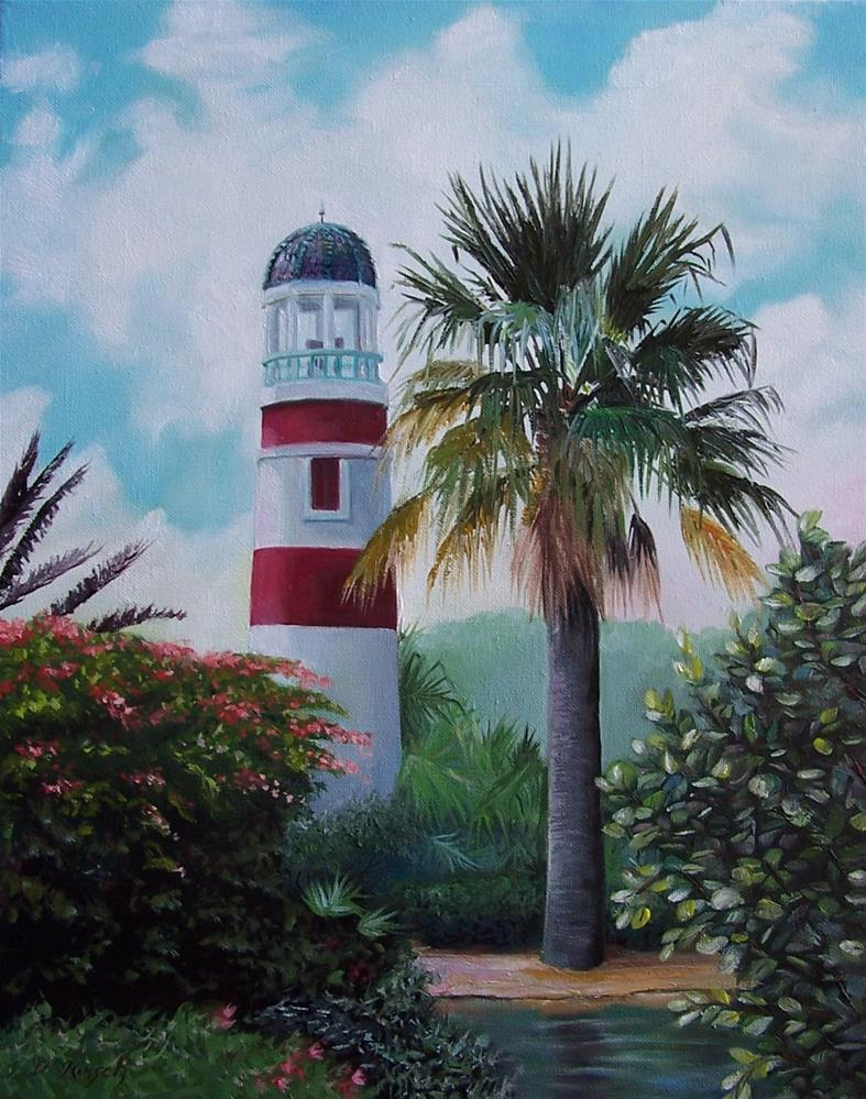 """Florida Lighthouse"" original fine art by Donna Munsch"