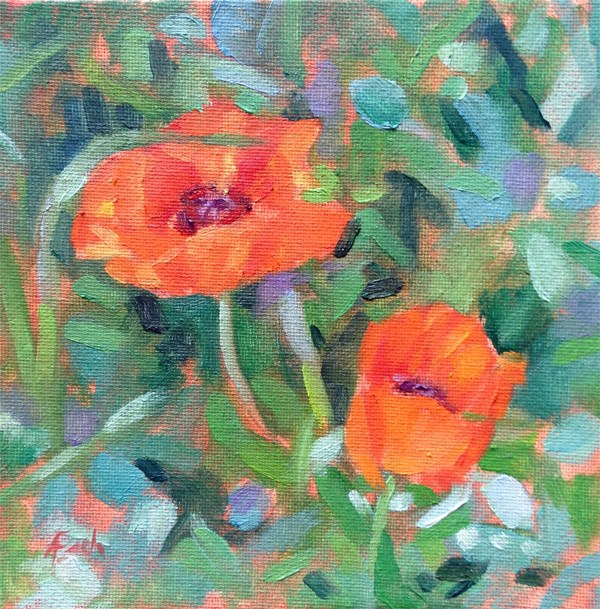 """Poppies"" original fine art by Audra Esch"