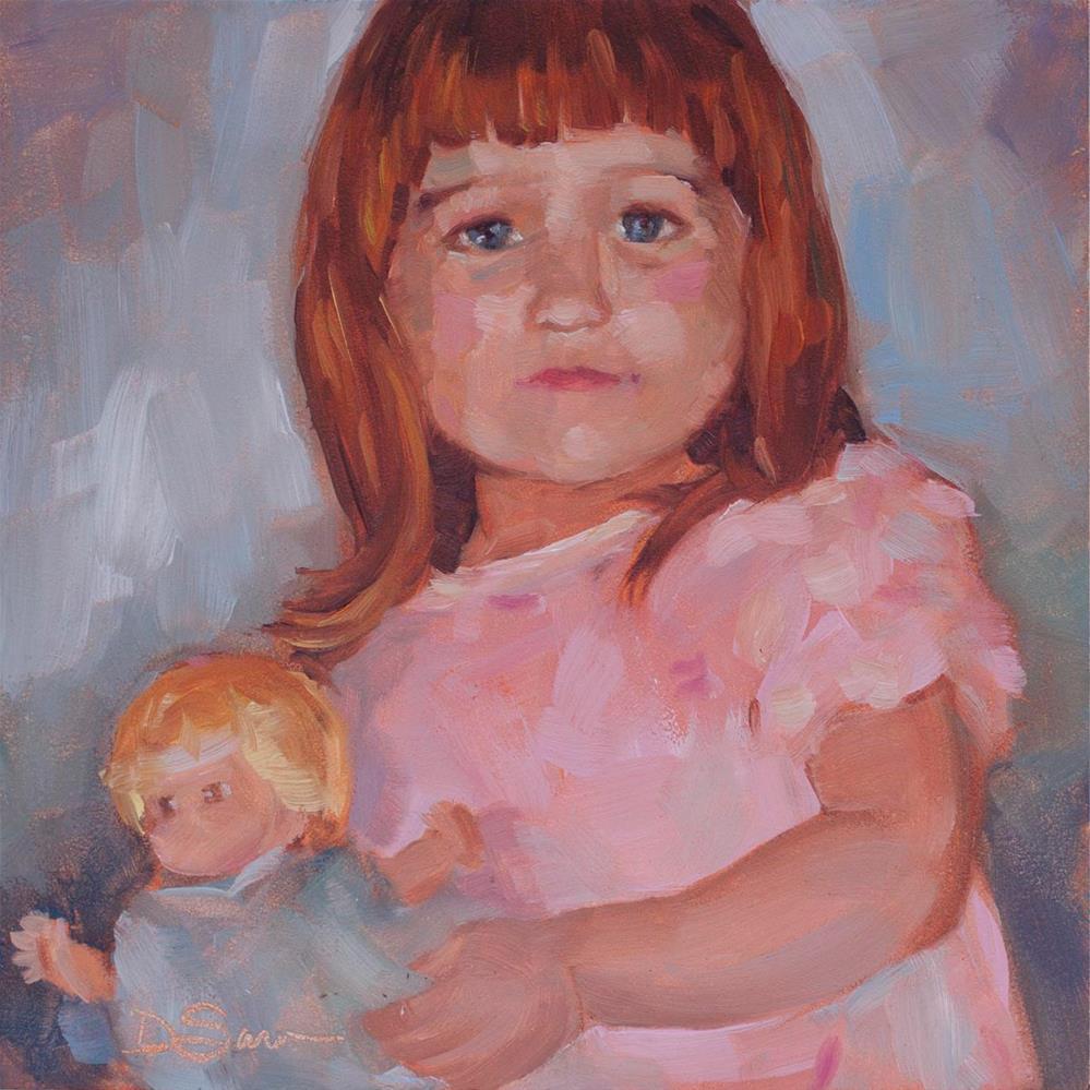 """Eyes of Love #2 Dina"" original fine art by Deborah Savo"