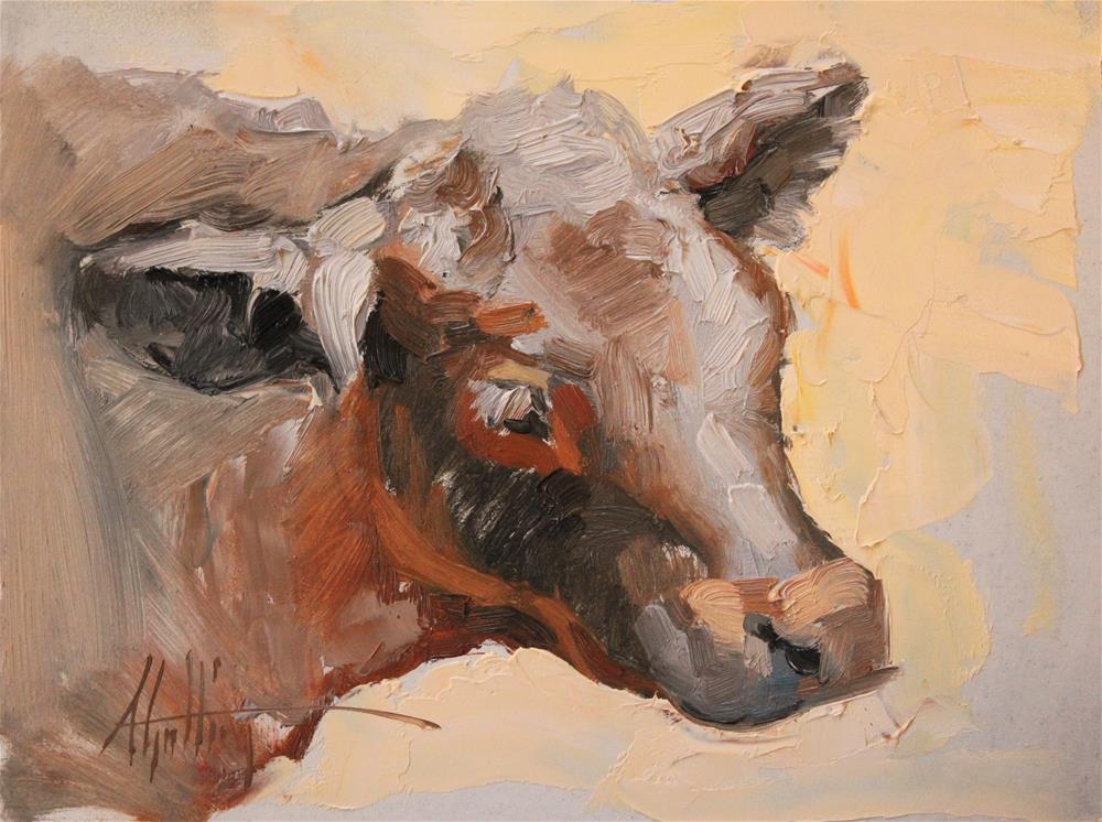 """""""Calf Study #1"""" original fine art by Abigail Gutting"""