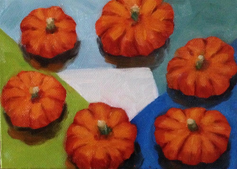 """pumpkin gathering"" original fine art by Bobbie Cook"