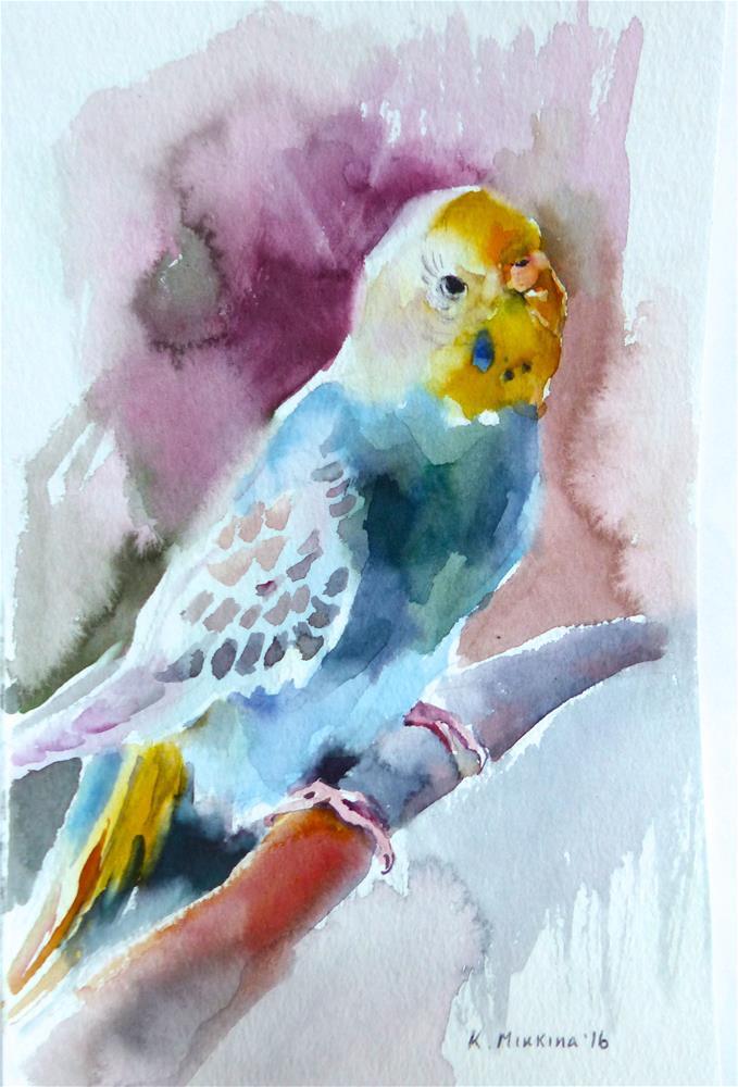 """budgie17"" original fine art by Katya Minkina"