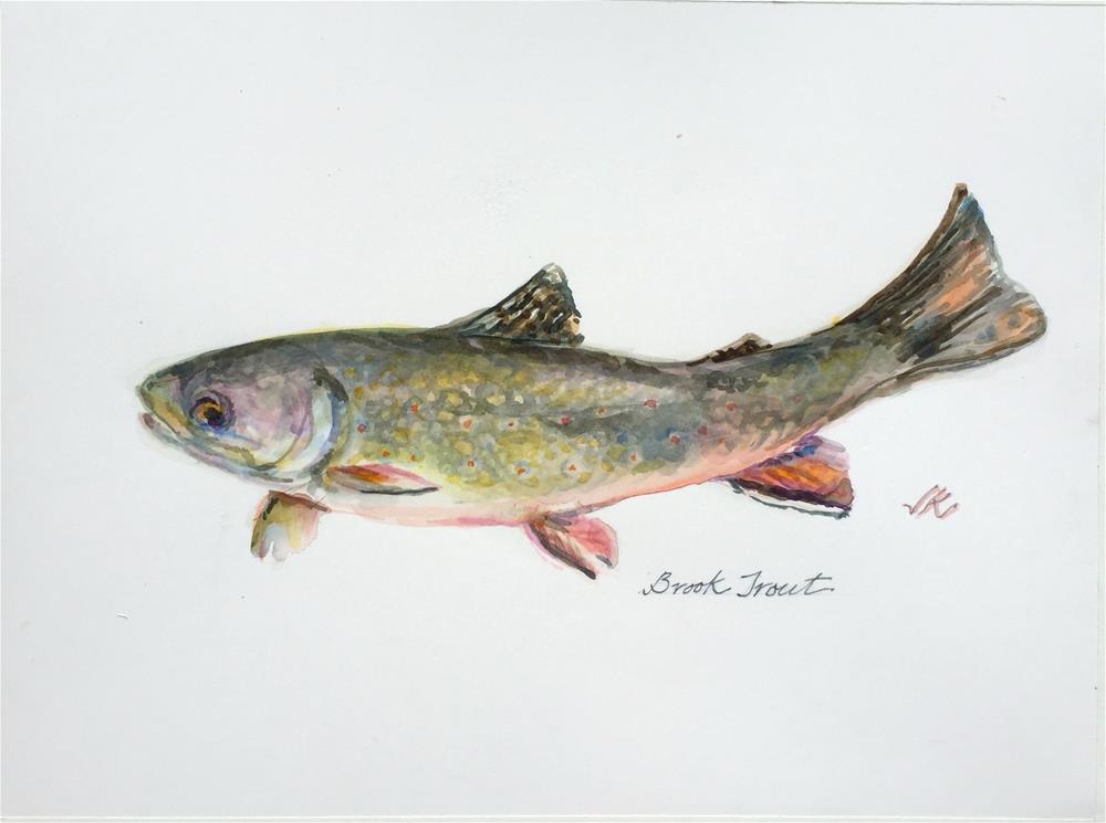 """Brook Trout"" original fine art by jean krueger"
