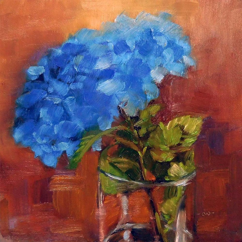 """Electric Blue"" original fine art by Cietha Wilson"