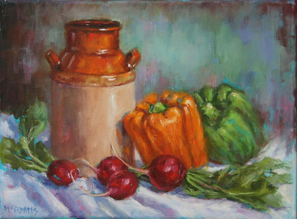 """Peppers and Radishes"" original fine art by Phyllis McAdams"
