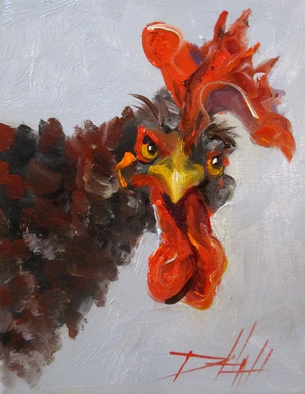 """Cluck Cluck"" original fine art by Delilah Smith"
