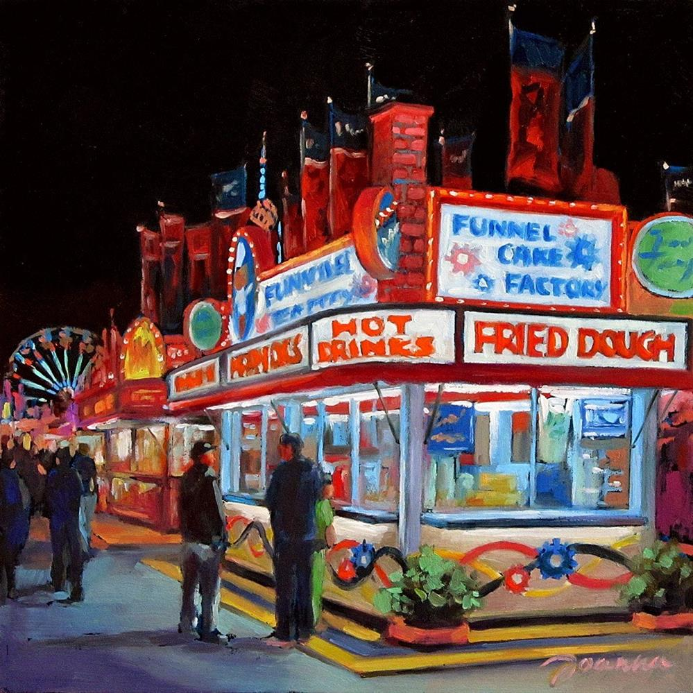 """Funnel Cake Factory--Series Painting of Fair Food Booth"" original fine art by Joanna Bingham"