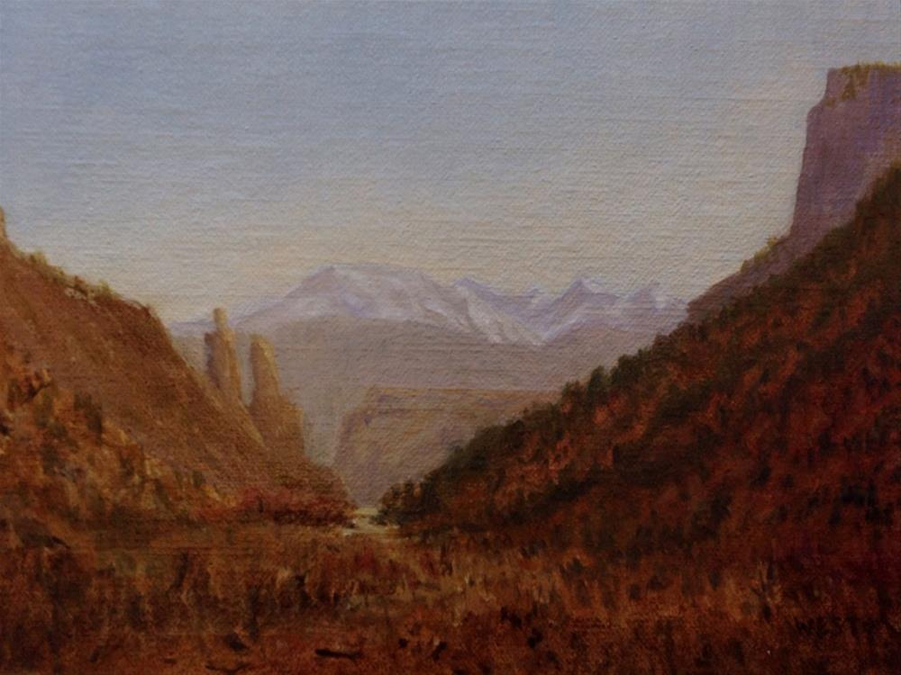 """Morning Drive to Moab"" original fine art by James West"