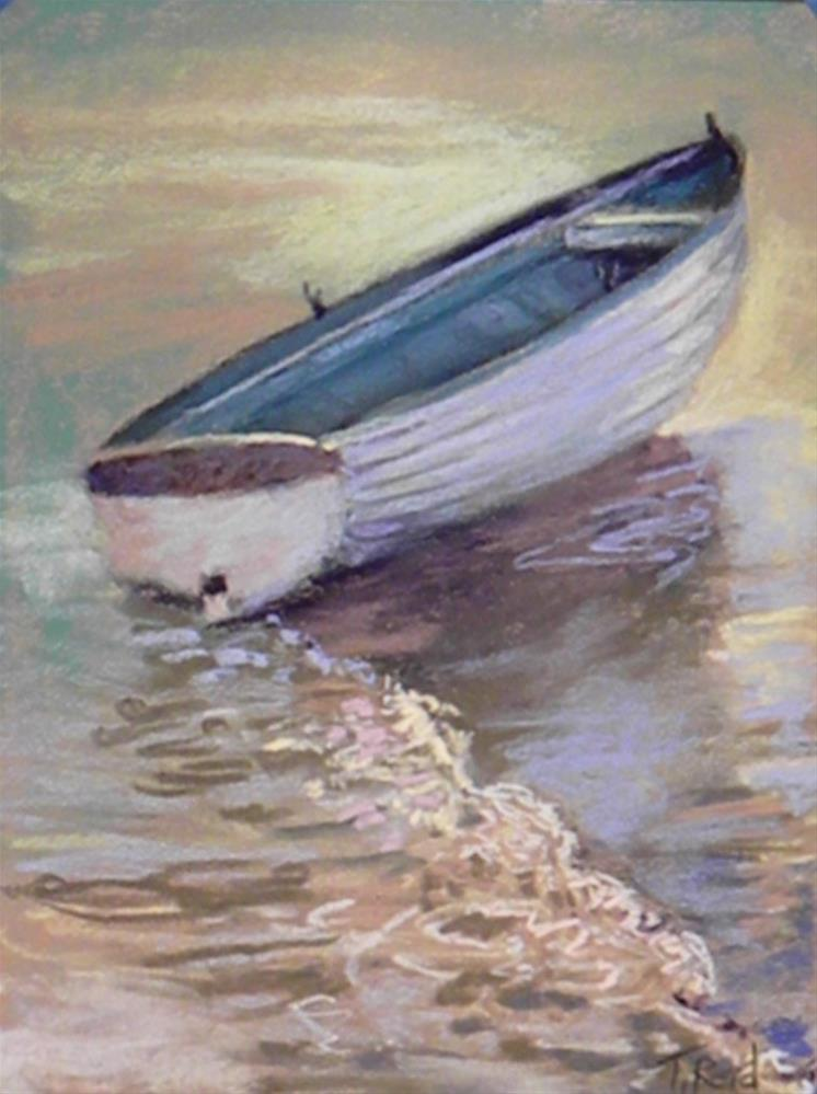 """Boat on the shore"" original fine art by Toby Reid"