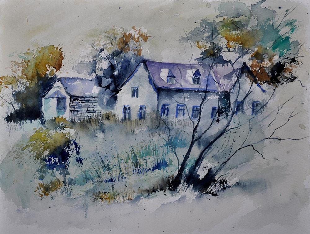 """watercolor 412162"" original fine art by Pol Ledent"