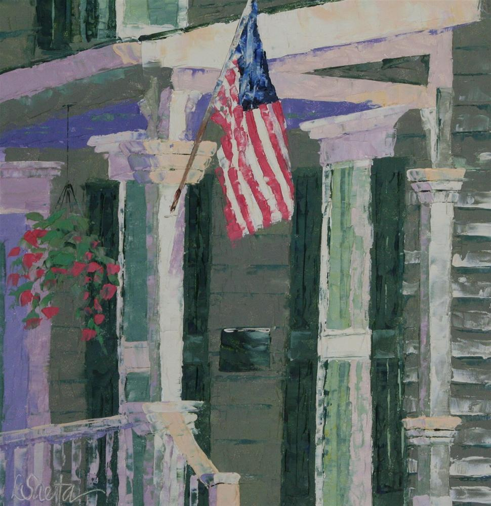 """The Front Porch"" original fine art by Leslie Saeta"