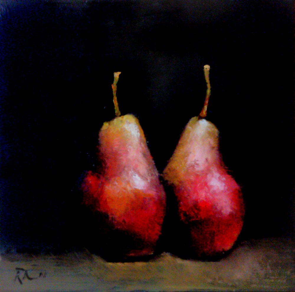 """A Couple of Pears"" original fine art by Bob Kimball"