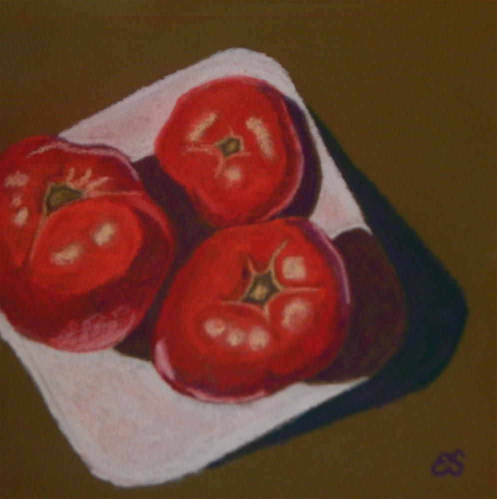 """Fresh Tomatoes"" original fine art by Elaine Shortall"