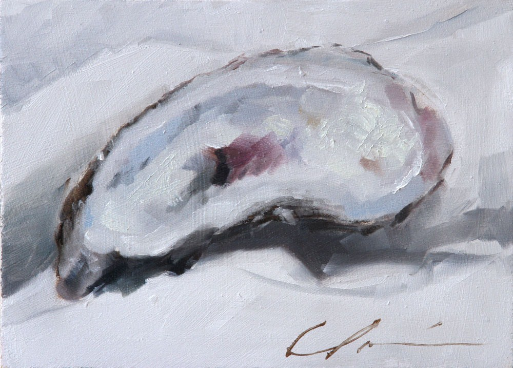 """Oyster Shell By Clair Hartmann"" original fine art by Clair Hartmann"