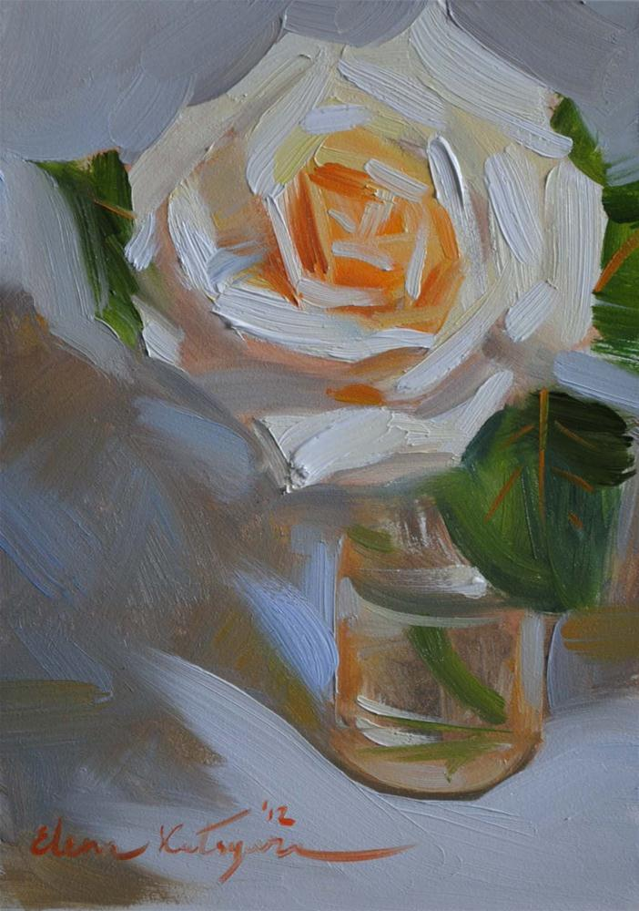 """A Rose II"" original fine art by Elena Katsyura"