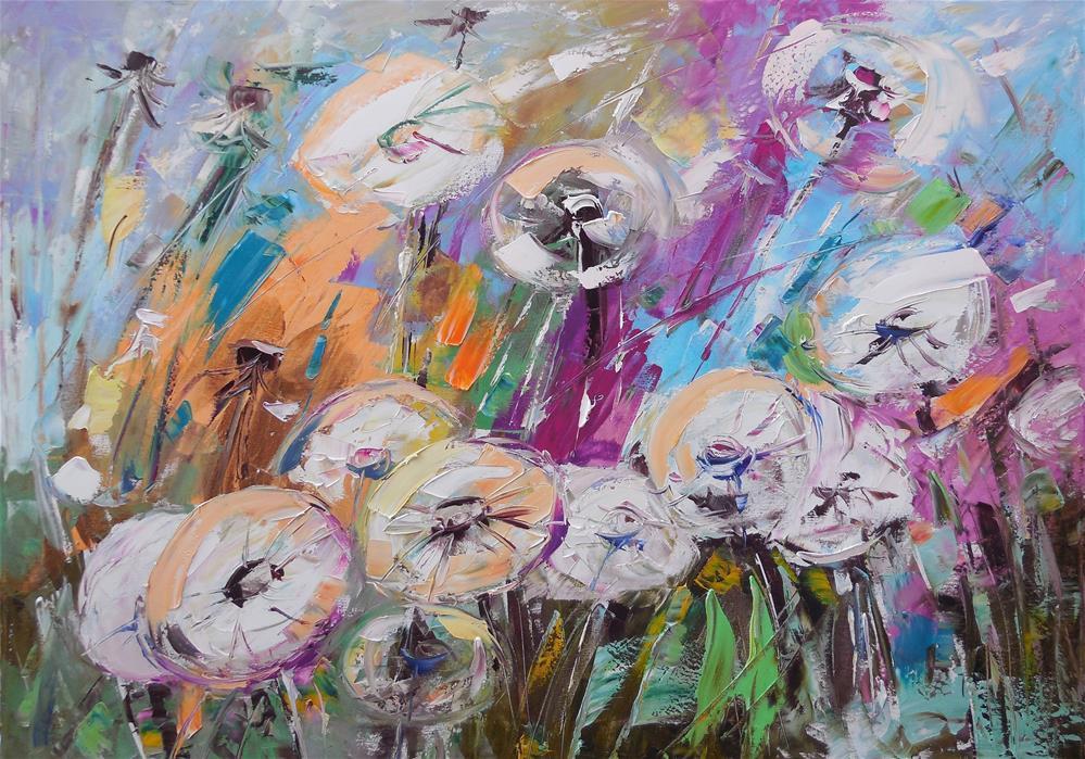 """The Dandelions"" original fine art by Elena Lunetskaya"