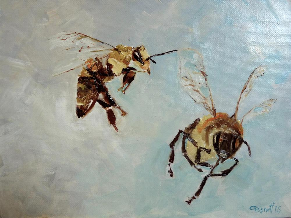 """Bees No 2"" original fine art by Claudia Brandt"