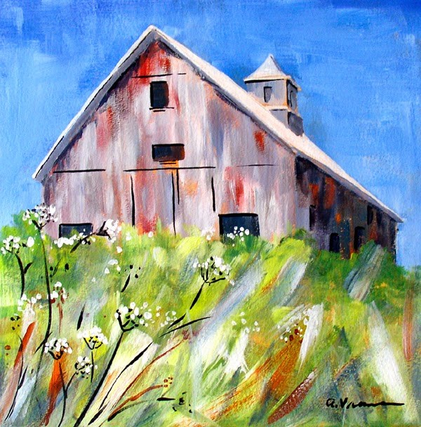 """Up on the Hill"" original fine art by Anna Vreman"