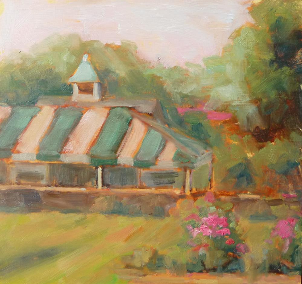 """Garden Tent"" original fine art by Carol Josefiak"