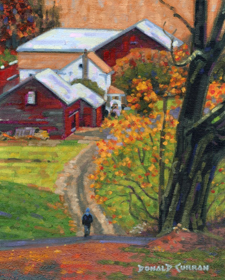 """Country Road"" original fine art by Donald Curran"
