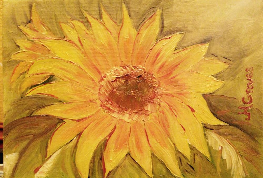 """Sunflower"" original fine art by J H Graves"