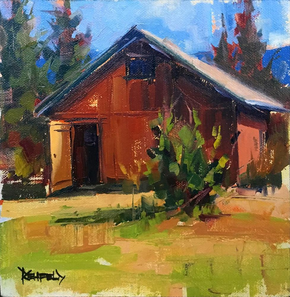"""Barn at The Saur Farm"" original fine art by Cathleen Rehfeld"