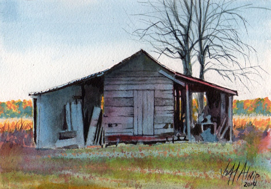 """The Far Shed"" original fine art by Jeff Atnip"