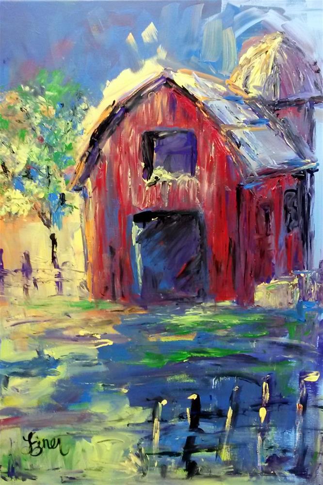 """""""Barn Abstract"""" original fine art by Terri Einer"""