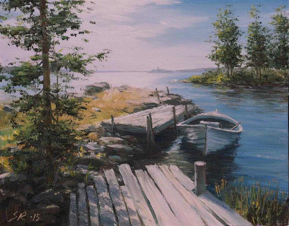 """Summertime"" original fine art by Stig Rosenlund"